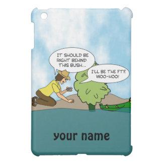 Funny Geocaching Cartoon Personalized ipad Case