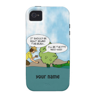 Funny Geocaching Cartoon Personalized iphone Case iPhone 4/4S Covers