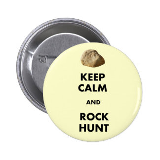 "Funny Geologist Gifts ""Keep Calm and...."" 2 Inch Round Button"