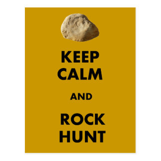 """Funny Geologist Gifts """"Keep Calm and...."""" Postcard"""