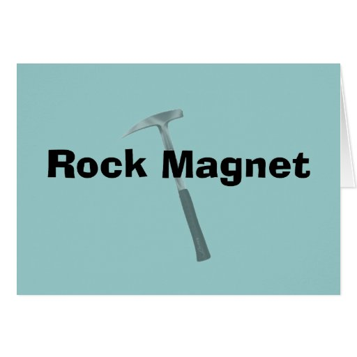 Funny Geologist Gifts Rock Manget Card