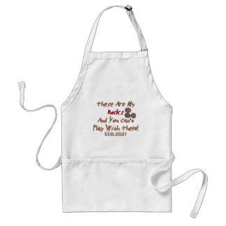 "Funny Geologist Gifts ""These Are My Rocks"" Adult Apron"