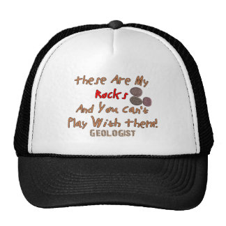 """Funny Geologist Gifts """"These Are My Rocks"""" Trucker Hat"""