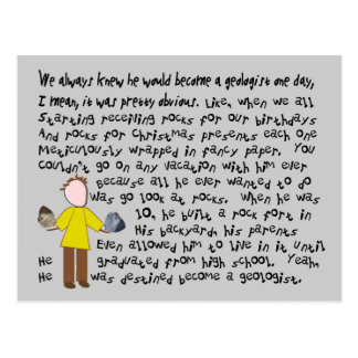 Funny Geologist Story Art Gifts Postcard