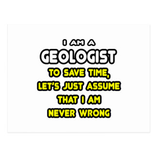 Funny Geologist T-Shirts and Gifts Postcard
