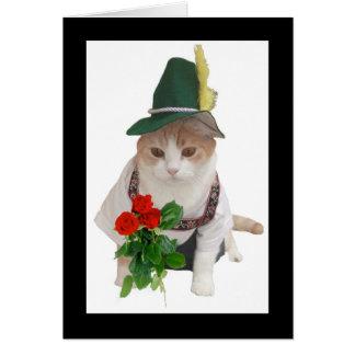 Funny German Cat Valentine Card