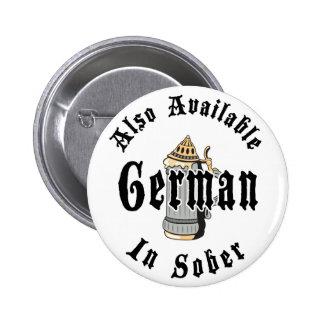 Funny German Drinking Pinback Button