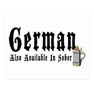 Funny German Drinking Postcard