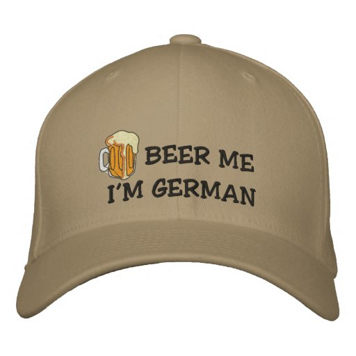"Funny German ""I'm German Beer Me"" Embroidered Cap Embroidered Hats"
