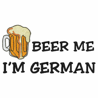 "Funny German ""I'm German Beer Me"" Embroidered Embroidered Polo Shirt"