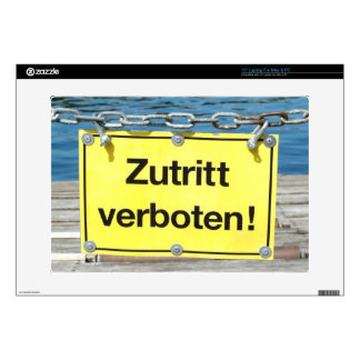 Funny German No Entry Sign Laptop Skins