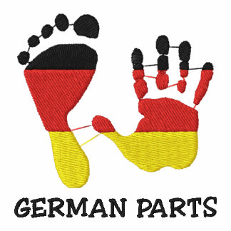 Funny German Parts Embroidered Polo