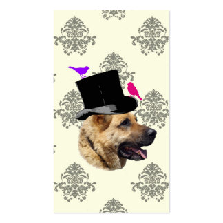 Funny German shepherd dog Double-Sided Standard Business Cards (Pack Of 100)