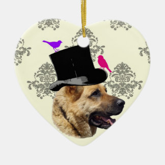 Funny German shepherd dog Ceramic Ornament