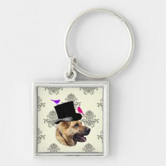 Funny German shepherd dog Keychain