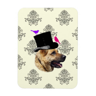 Funny German shepherd dog Magnet