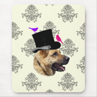 Funny German shepherd dog Mouse Pad
