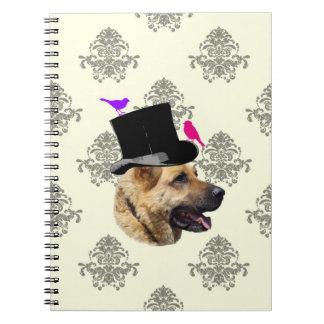 Funny German shepherd dog Journals