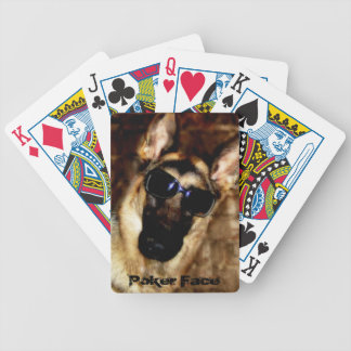 Funny German Shepherd Dog Photo Playing Cards Bicycle Playing Cards