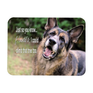 Funny German Shepherd Dog Refrigerator Magnet
