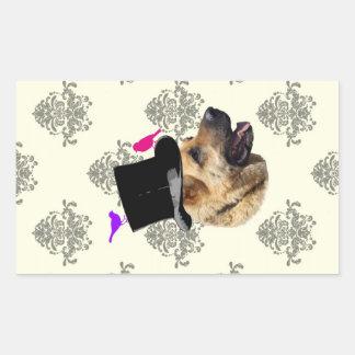 Funny German shepherd dog Stickers