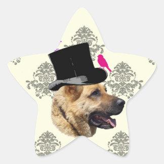 Funny German shepherd dog Sticker