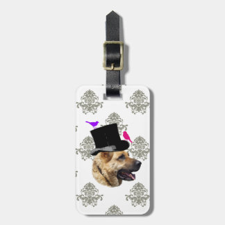 Funny German shepherd dog Tag For Luggage