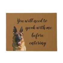 Funny German Shepherd Doormat