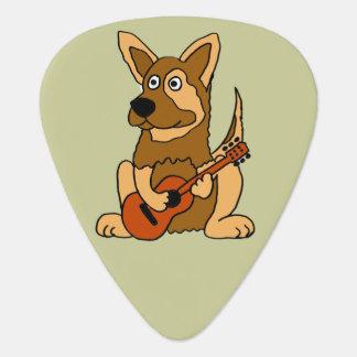 Funny German Shepherd Playing Guitar Guitar Pick