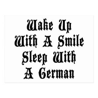 Funny German Sleep With A German Postcard