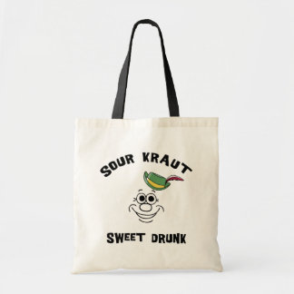 Funny German Sour Kraut Sweet Drunk Tote Bag