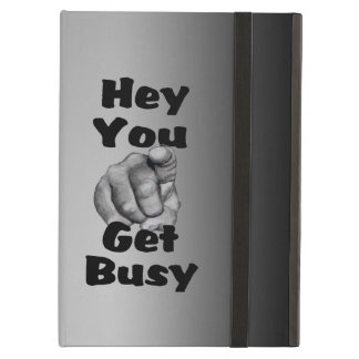 Funny Get Busy Case For iPad Air