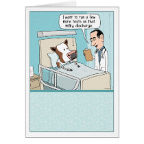 Funny Get Well Card: Cow Hospital Card