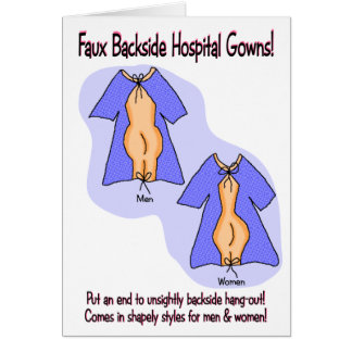 Funny Get Well Card Hospital Gown Humor