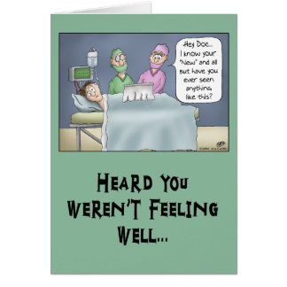 Funny Get Well Card: New Doctor Greeting Card