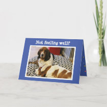 "Funny ""Get Well"" Card w/Cute Basset Hounds"
