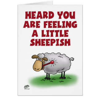 Funny Get Well Cards: Feeling Sheepish Greeting Card