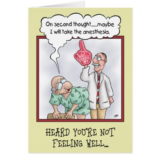Funny Get Well Cards: On Second Thought