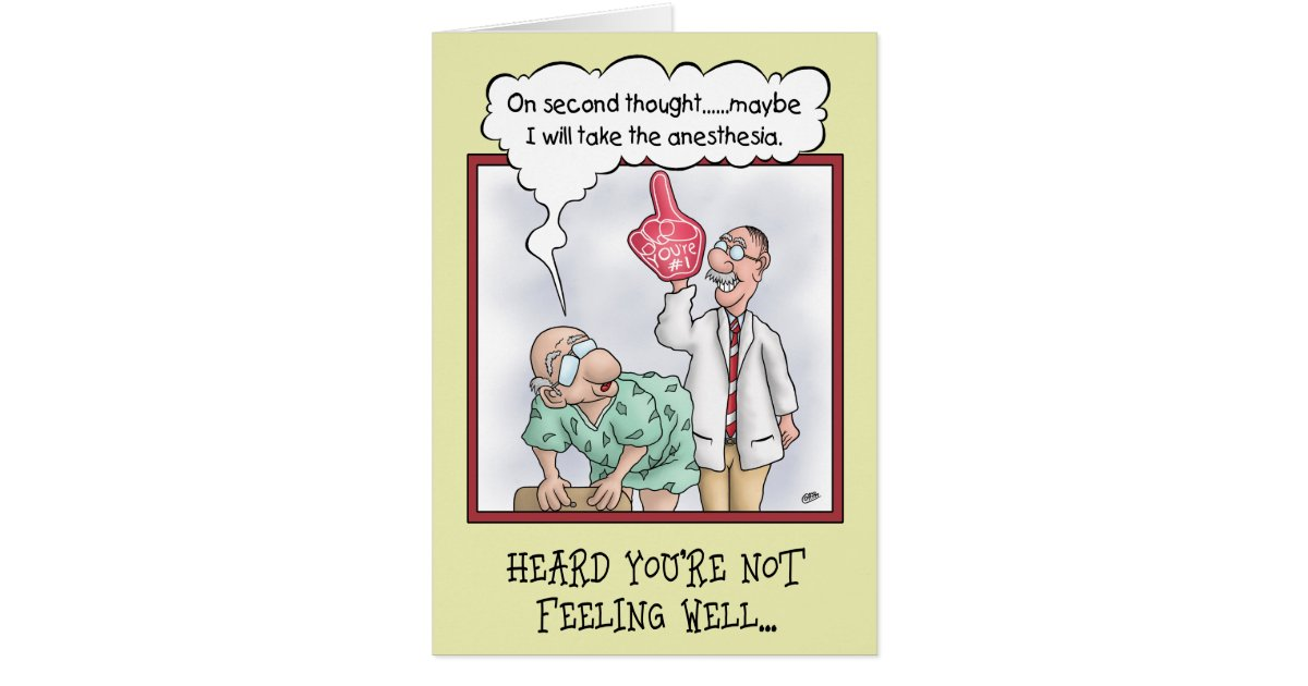Funny Get Well Cards: On Second Thought Card | Zazzle