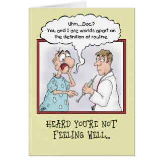 Funny Get Well Cards: Routine Shot Greeting Card