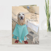 Funny Get Well Lab in Hospital Gown Card
