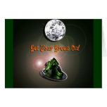 Funny Get Your Green On Greeting Cards