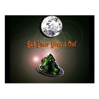 Funny Get Your Green On Postcard