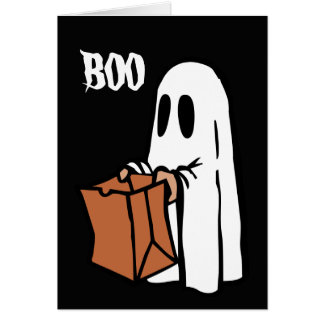Funny Ghost Birthday Card
