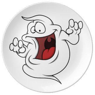 Cartoon Ghost Plates  Zazzle