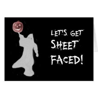 Funny Ghost Jack O Lantern Halloween Card