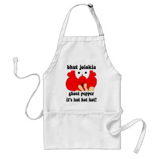 Funny ghost pepper adult apron
