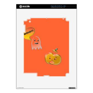 Funny Ghost Scaring Jack-O-Lantern iPad 2 Skins
