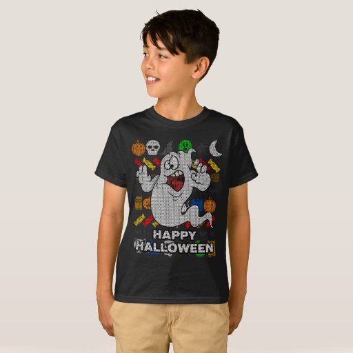 Funny Ghost Ugly Holiday Shirt - Happy Halloween
