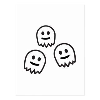Funny Ghosts Monster Postcard